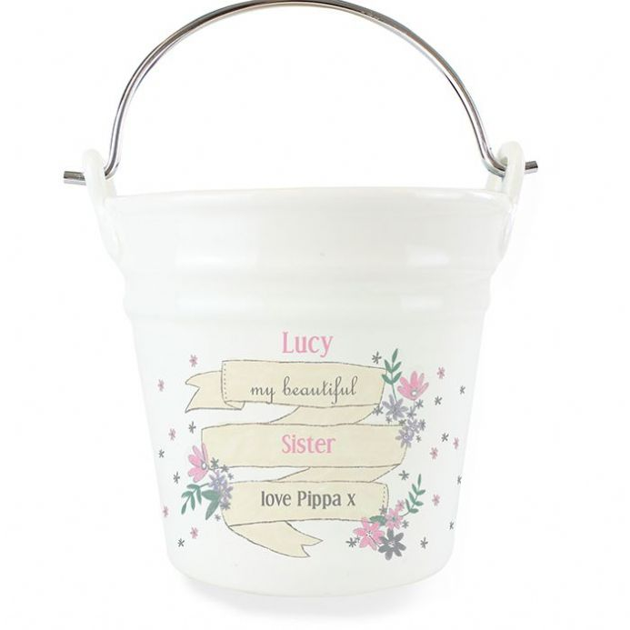 Personalised Garden Bloom Porcelain Bucket | Personalised Gifts | The Present Season